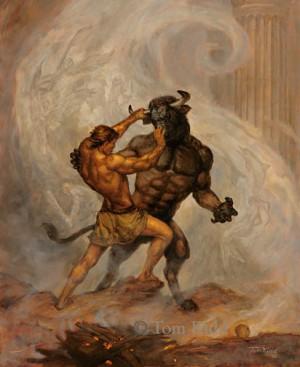Minotauro contro Teseo