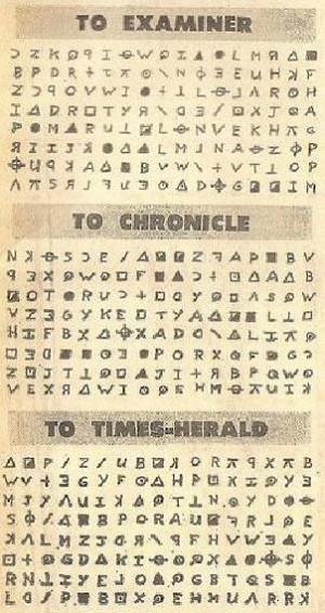 Crittogrammi di Zodiac Killer