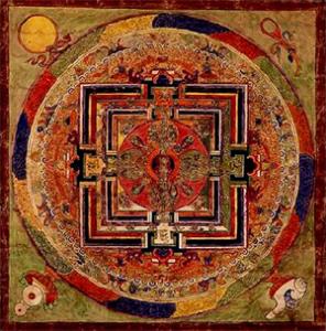 Rappresentazione del Libro Tibetano dei Morti