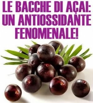 Bacche di acai antiossidante