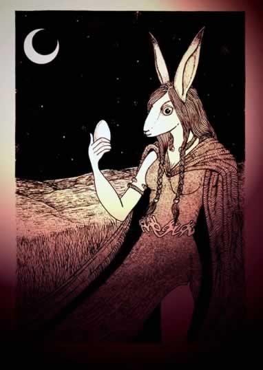 dea eostre coniglietto di pasqua