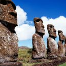 Moai le statue monolitiche dell'isola di Pasqua